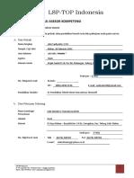 Joko S-Registrasi Asesor Kompetensi LSP-ToP