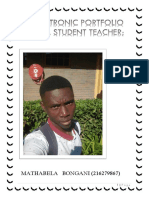 Bongani Electronic Portfolio