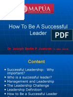 Lecture 2.0 - How to Become a Successful Leader