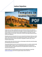 Temples in Jaisalmer Rajasthan