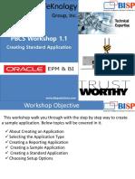 Workshopt on PBCS Creating Standard Application