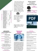 Brigie Hankin 5K Brochure