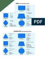 2 Area e Perimetro - Fórmulas