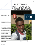 Electronic Portfolio of b Mathabela