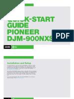 Pioneer DJM-900NXS Quickstart Guide