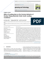 Effect of Loading Rate on the Fracture Behavior of Nuclear Piping Materials Under Cyclic Loading Conditions