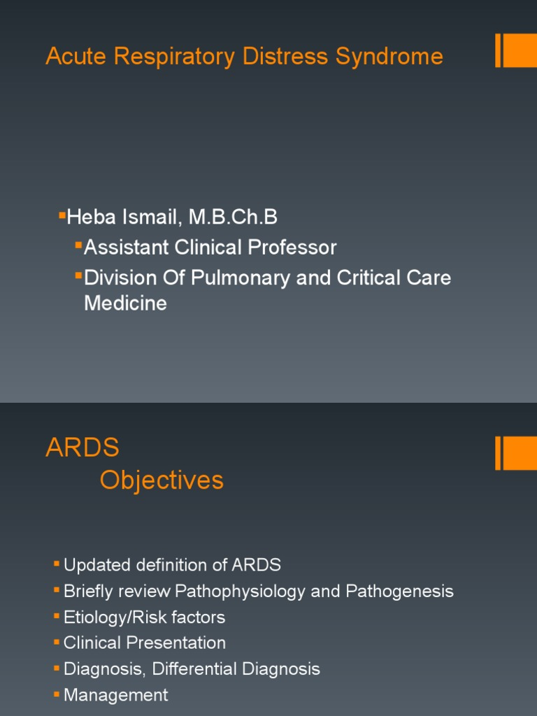 Acute Respiratory Distress Syndrome ppt | Respiration