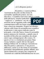 3. La Phronesis Ed Il Sillogismo Pratico