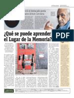 Qué Se Puede Aprender en El Lugar de La Memoria