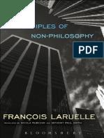 [François Laruelle] Principles of Non-Philosophy