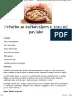 Pečurke Sa Kačkavaljem u Sosu Od Pavlake - Gastro Priče - Gastro