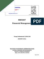 Syllabus MM5007 Financial Management YP54A