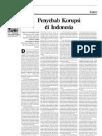 Penyebab Korupsi Di Indonesia