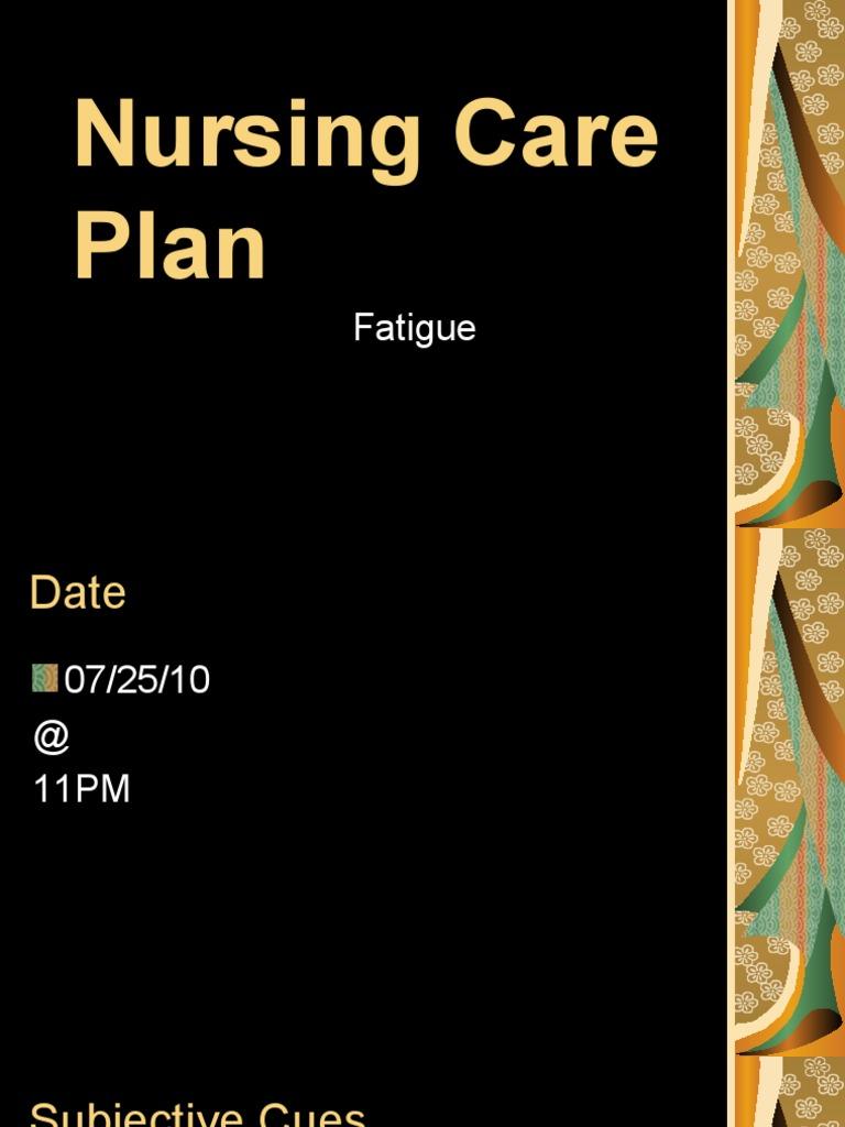 Nursing Care Plan Fatigue