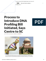 Process to Introduce DNA Profiling Bill Initiated, Says Centre to SC
