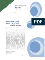 Trabajo de Materiales de Construcción Sobre Plasticos y Asfalto