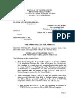 Pre Trial Brief Defense Q Theft