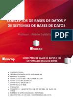 1.- Conceptos de BD y Sistemas de BD