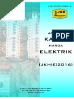Jadual Kadar Harga Elektrik 2016