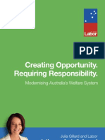 Creating Opportunity Requiring Responsibility