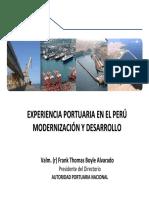 1. Experiencia Portuaria en El Peru Modernizacion y Desarrollo_frank Boyle