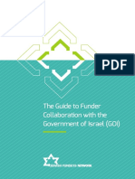 The Guide to Funder Collaboration with the Government of Israel (GOI)