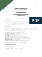HCU Specification