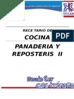 Recetario de panaderia y Reposteria