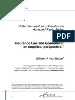 Van Boom, Insurance Law and Economics