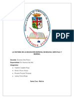 La Historia de La Educación Especial en Bolivia