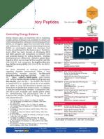 Feeding Regulatory Peptides