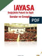 Anayasa Degisikligi Paketi Soru-Cevap AKP
