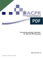 Australija Comunity Policing