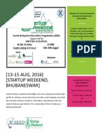 Startup Weekend Report