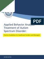 ABA Guidelines for ASD