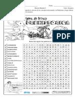 Sopa de Letras Prehistoria