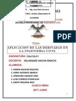 Aplicacion de Las Derivadas a La Ingenieria Civil - Semestre III