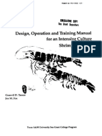 design operation and training manual for intensive culture shrimp hatchery