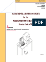 Kodak DirectView CR 500 - Adjustments and Replacements