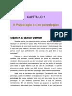 Introdução a Psicologia - Cap 1 e 2