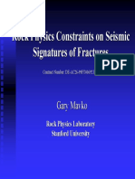 Rock physics constraints on seismic signatures of fractures