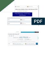 Evidencias Conversores Peso MXN a COP