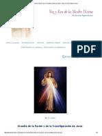 Oracion de La Pasión y de La Transfiguración de Jesús _ Voz y Eco de La Madre Divina
