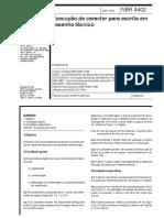 NBR 8402 Escrita Desenho Técnico