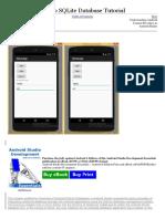 Android Studio y SQLite Database Tutorial