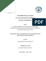 FACTORES DETERMINANTES DE EMBARAZOS EN MUJERES ADOLESCENTES CON FAMILIAS DISFUNCIONALES EN EL HOSPITAL MARIANA DE JESUS AÑO 2015-2016