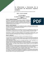 Reglamento de Infracciones y Sanciones de La Superintendencia Nacional de Educación Superior Universitaria