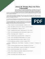 Plano de Leitura de 30 Dias - Novo Convertido