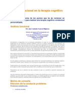 Análisis Funcional en La Terapia Cognitivo Conductual