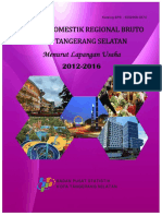 Produk Domestik Regional Bruto Kota Tangerang Selatan Menurut Lapangan Usaha 2012 2016